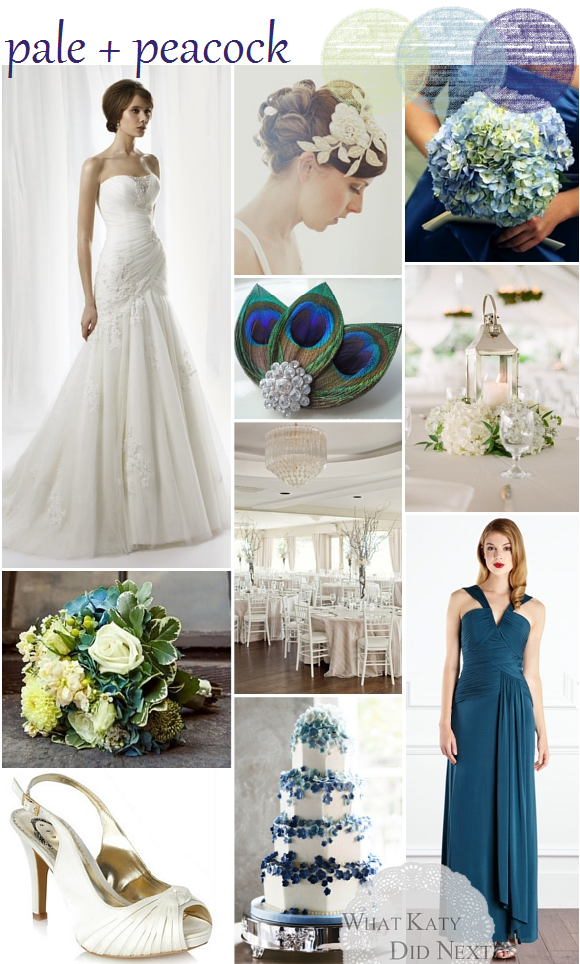 Pale and Peacock Wedding Inspiration