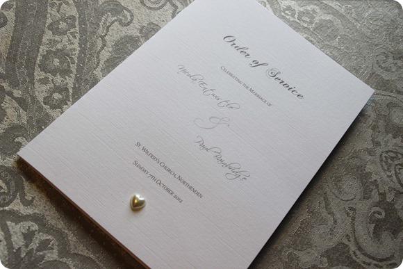 ATLD Elegant Vintage Grey Damask Order of Service £2.95