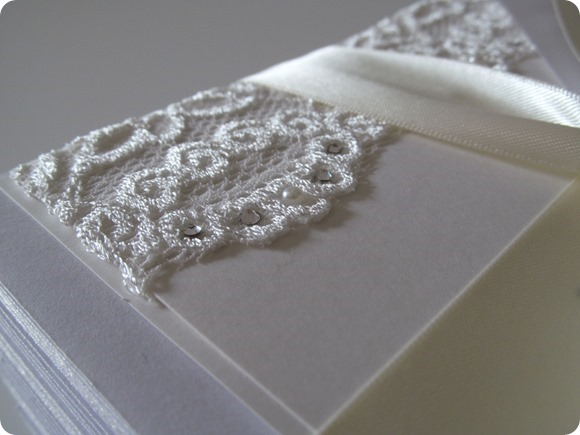 ATLD Vintage Lace, Pearls & Swarovski Crystal Evening Invitation  £3.50