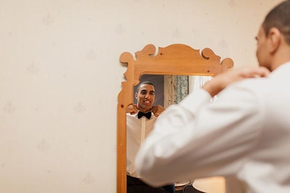 Emily and Cyrus's elegant black tie christmas wedding at Oulton Hall near Leeds.