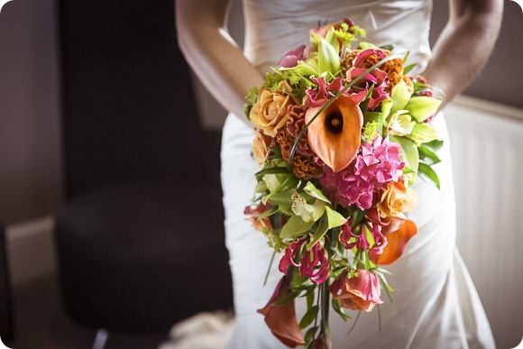 Colourful Wedding Flowers by Phil Smith Photography