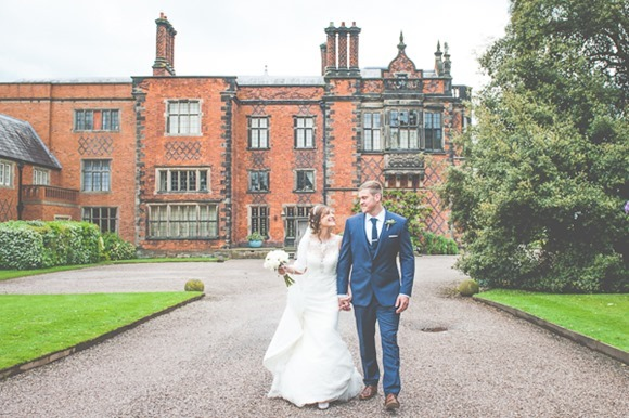 Mori Lee for a modern vintage wedding at Arley Hall & Gardens (c) Lisa Howard Photography