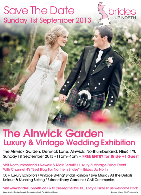 Alnwick Garden Luxury Wedding Exhibition September 2013