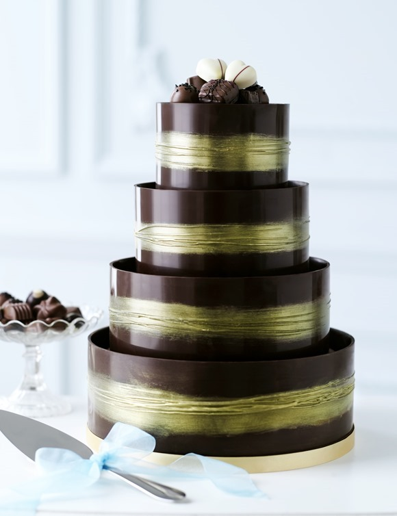 marks and spencer shimmering hoop chocolate wedding cake high honey marks amp spencer brides up 17164