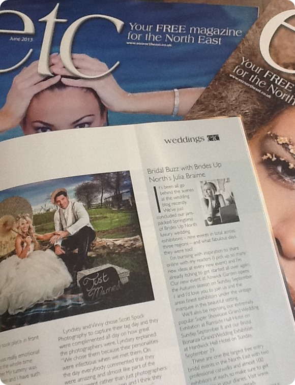 Brides Up North in Etc Magazine