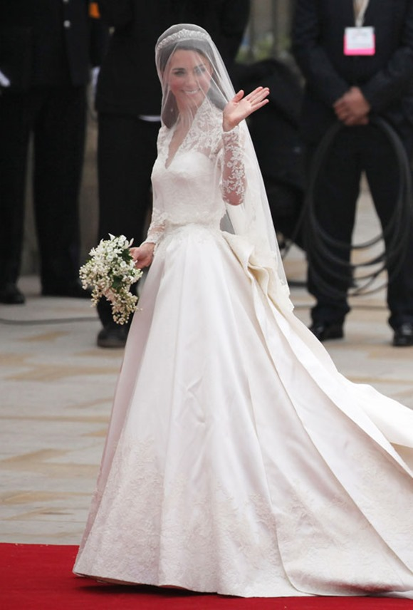 Kate Middleton Wedding Dress via Marie Claire