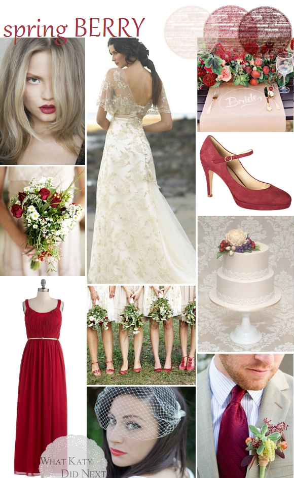 Spring Berry Wedding Inspiration