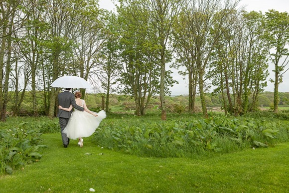 A tea length Enzoani wedding dress for an intimate Real Wedding in North Wales (c) Gill Jones Photography