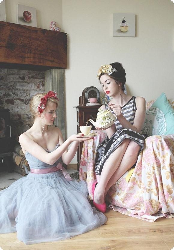 A Retro Bridesmaids' Shoot by Sally T Photography