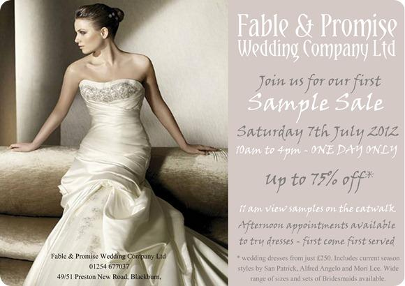 Fable Sample Sale July 2012