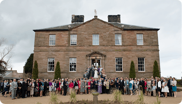 A Real Wedding at Newton Hall by Topher McGrillis