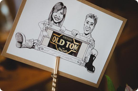Wedding caricature by Chris Milner Photography