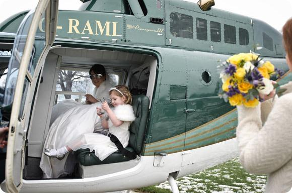 Wedding helicopter by JB Creatives