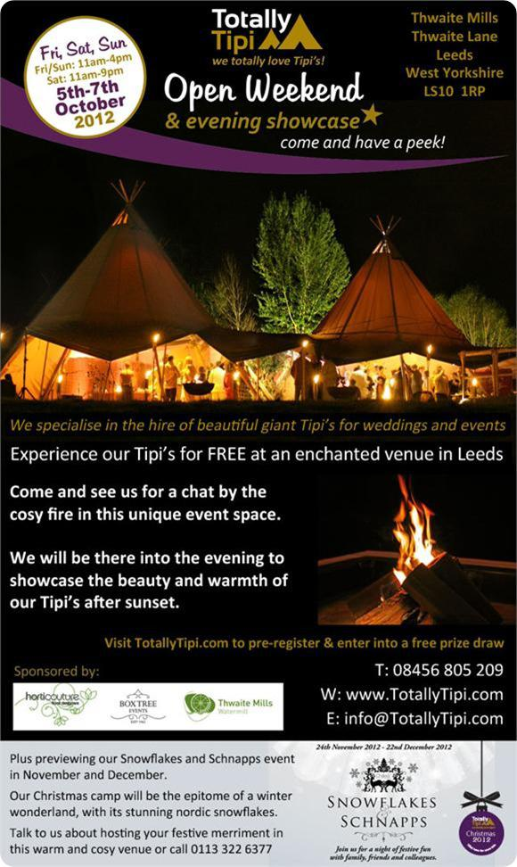 Totally Tipi Open Weekend