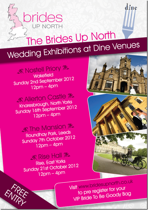 Brides Up North Wedding Exclusives Autumn 2012