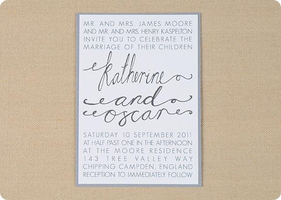 Bespoke Wedding Invitations by Amelia Lane Paper