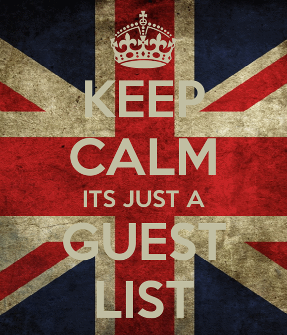 Keep Calm Its Just A Guest List