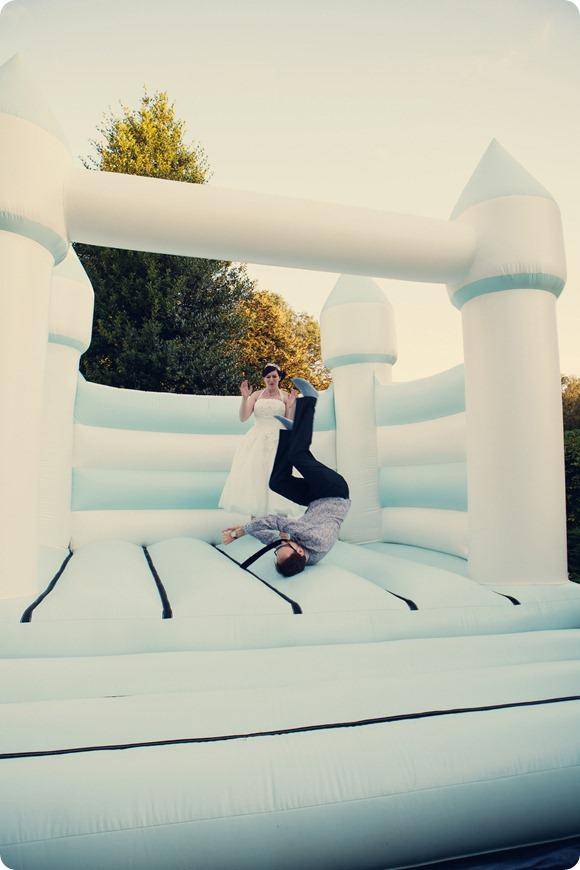 Bouncy Castle Wedding by Assassynation