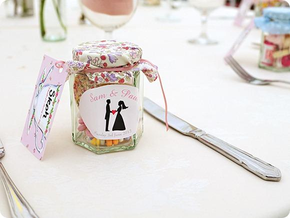 Sweetie wedding favours by Stephen Quinn Photography