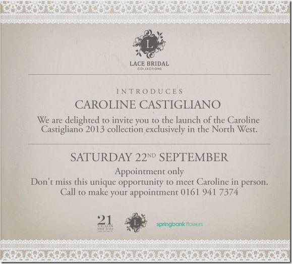 Caroline Castigliano Designer Day at Lace Bridal