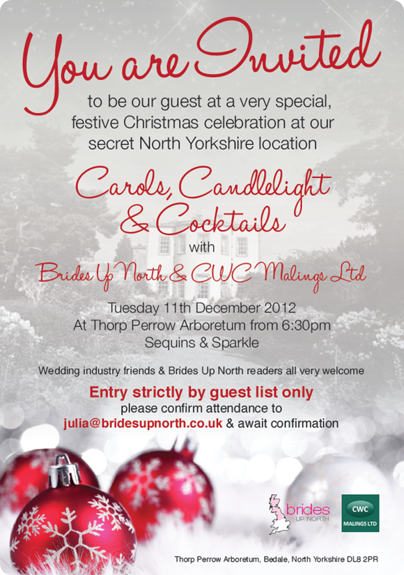 Brides Up North Christmas Party Invitation